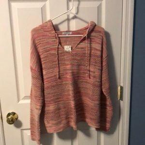 Pink knit sweatshirt